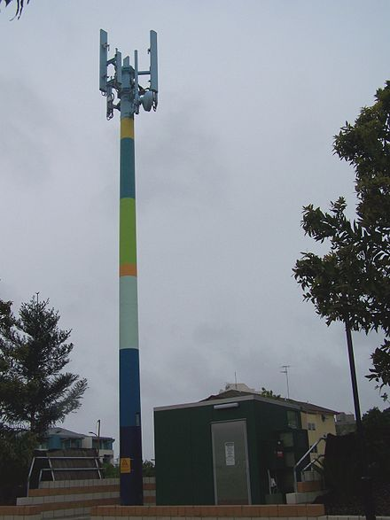 440px Painted cell tower