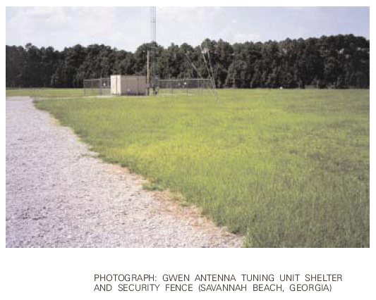 GWEN antenna tuning unit shelter and security fence