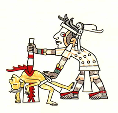 Human sacrifice Codex Laud f.8