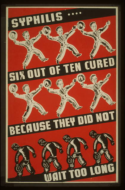 Syphilis poster wpa cure