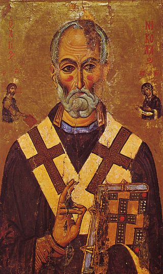 St Nicholas Icon Sinai 13th century