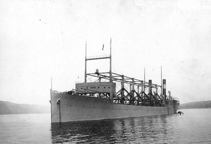 USS Cyclops in Hudson River 19111003
