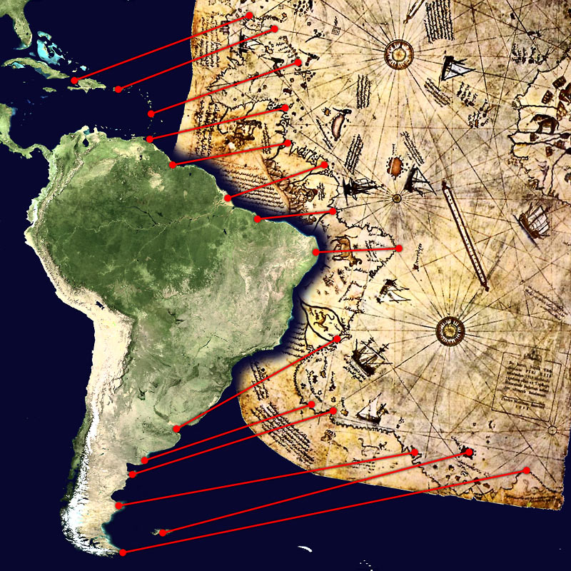 Piri Reis map interpretation