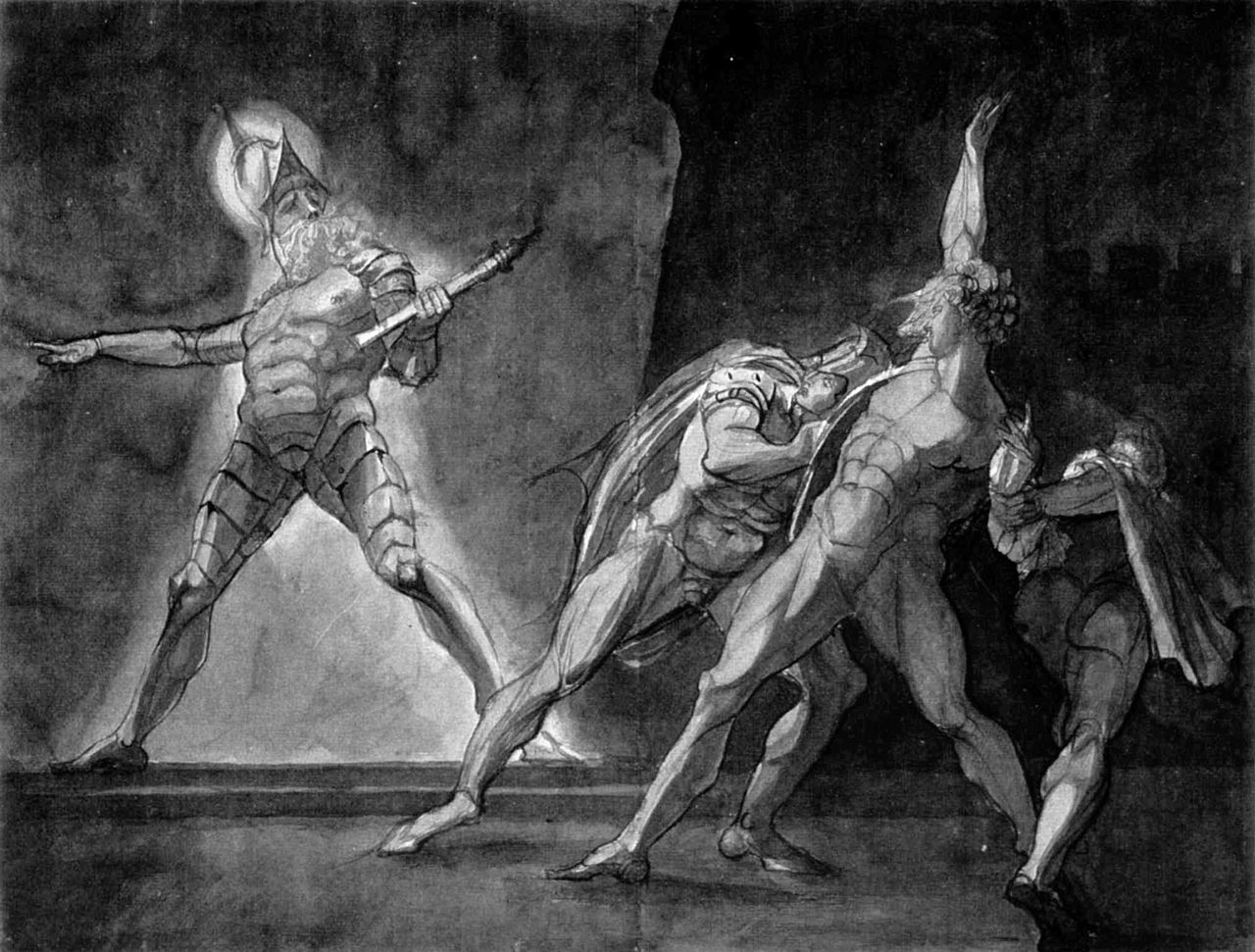 Henry Fuseli rendering of Hamlet and his fathers Ghost