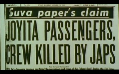 Joyita crew killed by japs