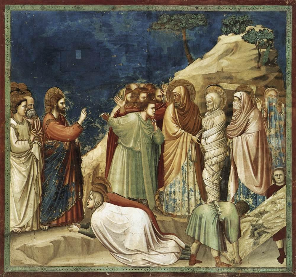 Giotto di Bondone No. 25 Scenes from the Life of Christ 9. Raising of Lazarus WGA09204